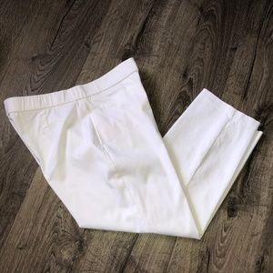 Susan Graver White Capris Cropped Pants Sz 8P